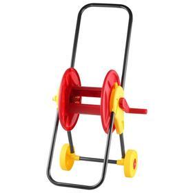 "Катушка для шланга d = 12 мм (1/2""), 60 м, пластик, на колесах, GRINDA"