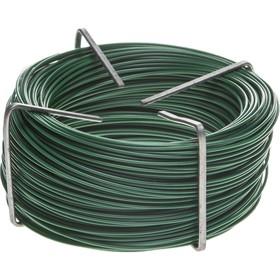 Проволока подвязочная, стальная с ПВХ покрытием, 50 м, зелёная, RACO