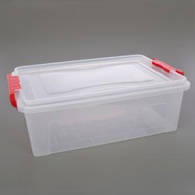 Контейнер для хранения с крышкой 10,5 л, 42×27×14 см, цвет прозрачный