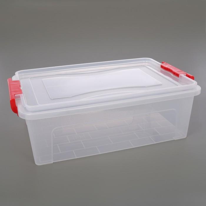 Контейнер для хранения с крышкой IDEA, 10,5 л, 42×27×14 см, цвет прозрачный - фото 308334482