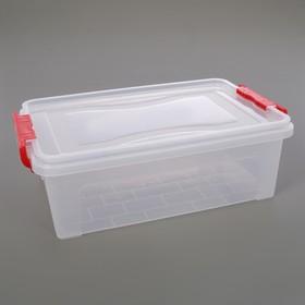 Контейнер для хранения с крышкой 6,3 л, 36×23,5×11,5 см, цвет прозрачный