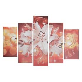 "Модульная картина на подрамнике ""Цветки лилии"" 150х100 см ( 2-30х60; 2-30х80; 1-30х100)"