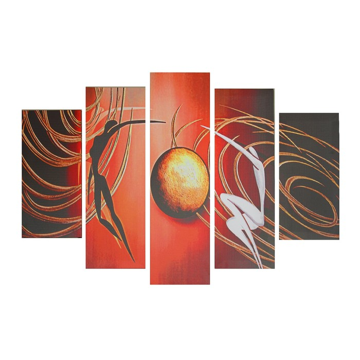 "Модульная картина на подрамнике ""Вокруг солнца"" 115х82 см ( 2-23х49; 2-23х70; 1-23х82) - фото 8443822"
