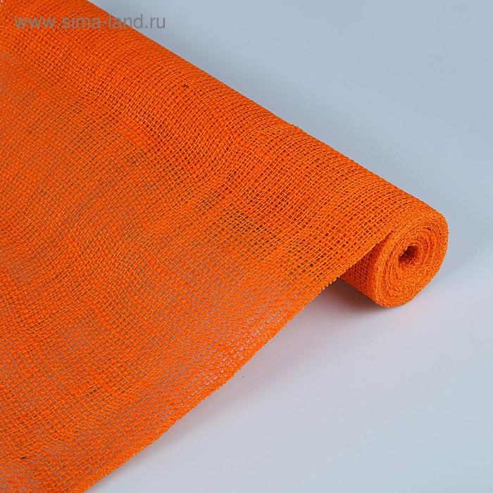 Джут натуральный, оранжевый, 0,5 х 5 м