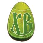 """Магнит дерево """"Яйцо"""" зеленый 5,5х3,5 см"""