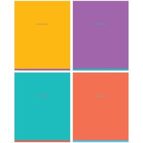 Тетрадь 60 листов клетка Greenwich Line. One color, матовая ламинация, МИКС