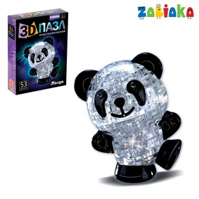 3D crystal puzzle, Panda, 53 parts, MIX color