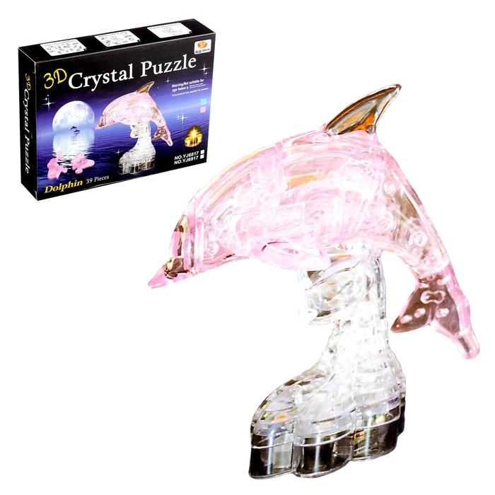 Пазл 3D кристаллический, «Дельфин», 39 деталей, МИКС