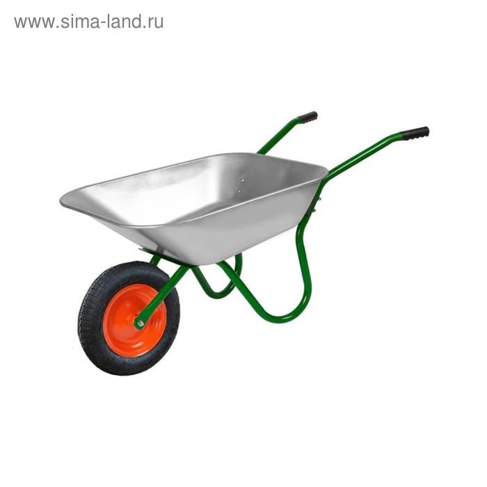 Тачка садовая, 1-колёсная: груз/п 120 кг, объём 65 л, пневмоклесо 370 х 15 мм, кузов ОЦ 0.6 мм