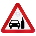 """Sign on a car """"Drunk driving"""""""