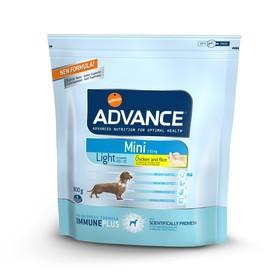 Сухой корм Advance для собак малых пород, контроль веса, курица/рис, 800 г. Ош