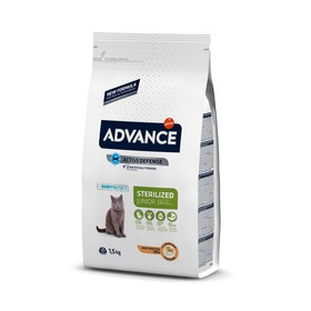 Сухой корм Advance для молодых стерилизованных кошек до 2 лет, 1,5 кг