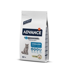 Сухой корм Advance для стерилизованных кошек, индейка, 3 кг