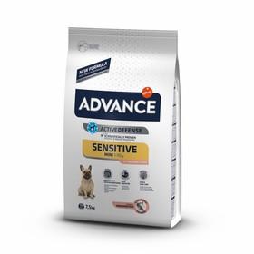 Сухой корм Advance для собак малых пород с чувствительным пищеварением, лосось/рис, 7,5 кг