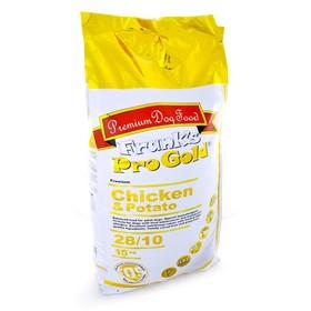 Сухой корм Frank's ProGold для собак, беззерновой, курица/картофель, 28/10, 15 кг.