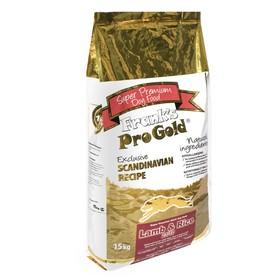 Сухой корм Frank's ProGold для собак, ягненок/рис, 23/10, 15 кг.