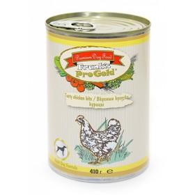 """Влажный корм Frank's ProGold для собак """"Вкусные кусочки курицы"""", ж/б, 410 г"""