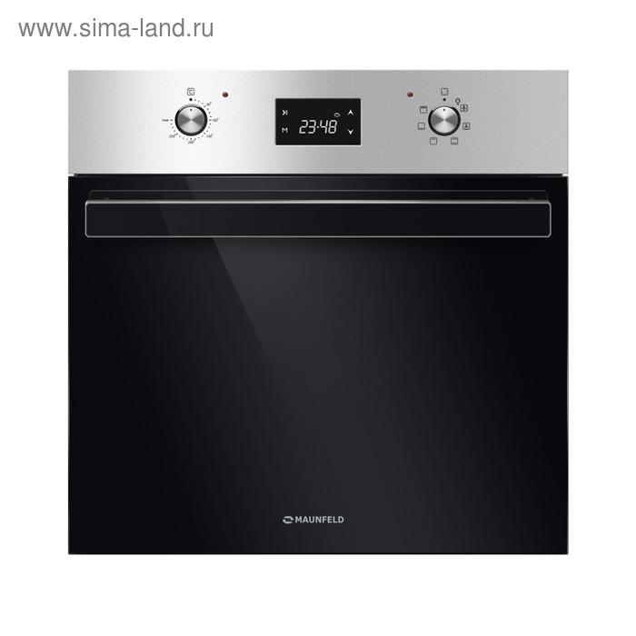 Духовой шкаф Maunfeld CEOK.656S1, электрический, 65 л, 7 функций, класс А, серебристый/черный   3407