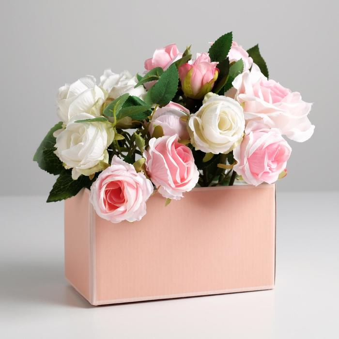 Складная коробка «Персиковая нежность», 12 × 17 × 10 см - фото 8443832