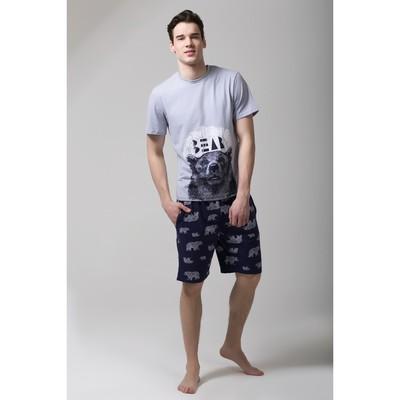 """Пижама мужская KAFTAN """"Bear"""" р-р XL(50-52), 100% хл.(шорты)"""