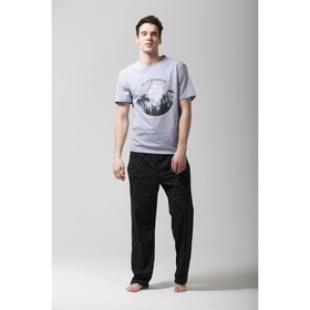 "Пижама мужская KAFTAN ""Adventure"", серый, черный, р.54-56"