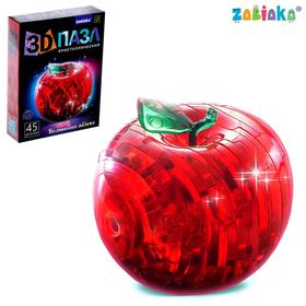 3D crystal puzzle, Apple, 45 parts, MIX color