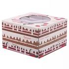Коробка для торта «Сказочных сюрпризов», 25 х 25 х 10 см