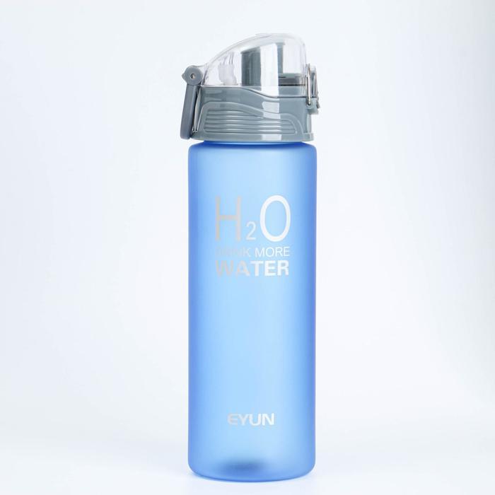 Бутылка для воды 850 мл, спортивная, матовая, микс, 7.5х25 см
