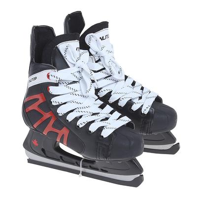 Коньки хоккейные 206Р black, разм. 39 в пакете