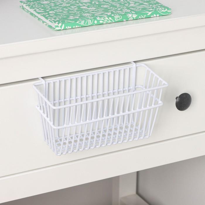Корзина подвесная 20×12×9.5 см, цвет белый