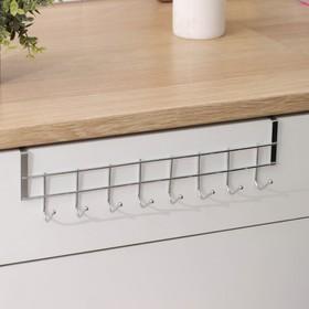 Вешалка надверная на 8 крючков Доляна «Блеск», 36×9×2 см, цвет хром