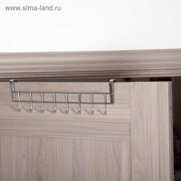 Nadvirna hanger, 8 hooks, silver color