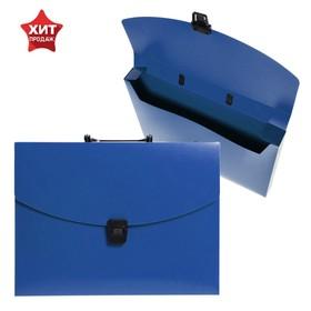 Папка-портфель А4, 1 отделение, 700 мкм, Calligrata, до 300 листов, синяя
