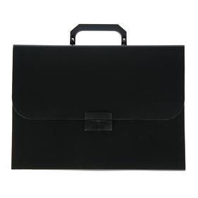 Папка-портфель А4, 7 отделений, 700 мкм, Calligrata, до 300 листов, чёрная