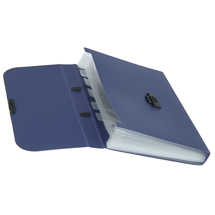 Папка-портфель А4, 7 отделений Calligrata, 700 мкм, песок, синяя - фото 418336535