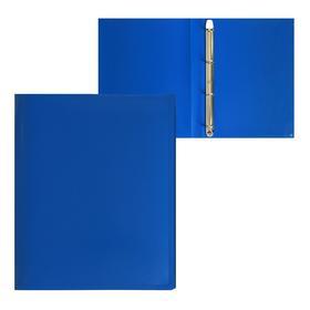 Папка на 4 кольцах А4, Calligrata, 25 мм, 500 мкм, синяя
