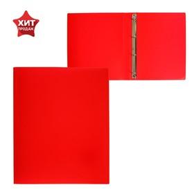 Папка на 4 кольцах А4, Calligrata, 25 мм, 500 мкм, красная