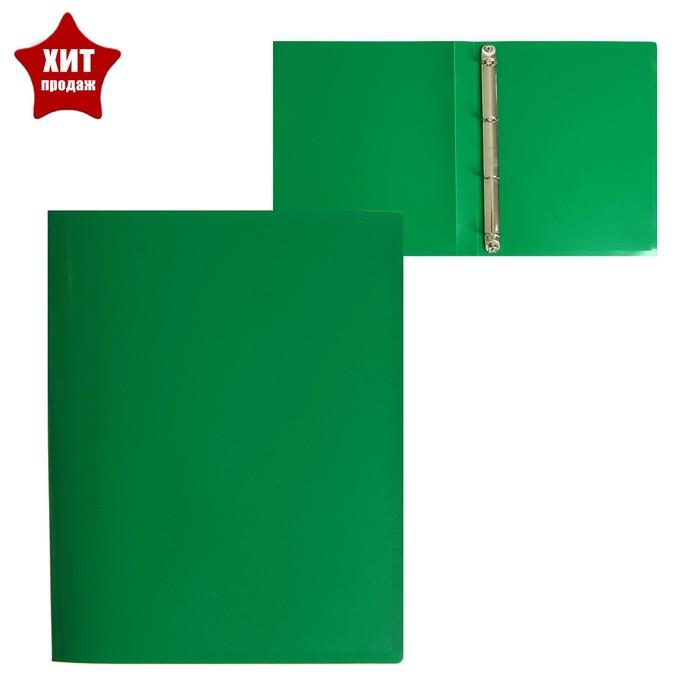 Папка на 4 кольцах А4, Calligrata, 25 мм, 500 мкм, зеленая