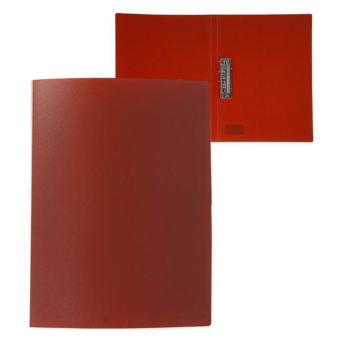 Папка с зажимом А4, 500 мкм, Calligrata, песок, красная