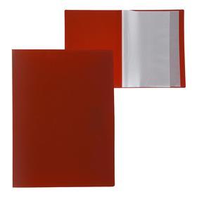 Папка А4, 20 прозрачных вкладышей, 500 мкм, Calligrata, песок, красная