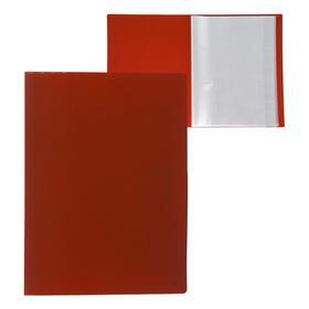 Папка А4, 40 прозрачных вкладышей, 500 мкм, Calligrata, песок, красная