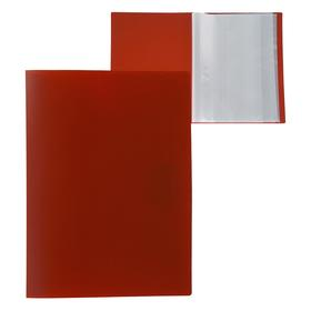 Folder 60 clear A4 liners, 500 µm, Calligrata, sand, red