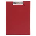 Планшет с прижимом А4, Calligrata, песок, красная