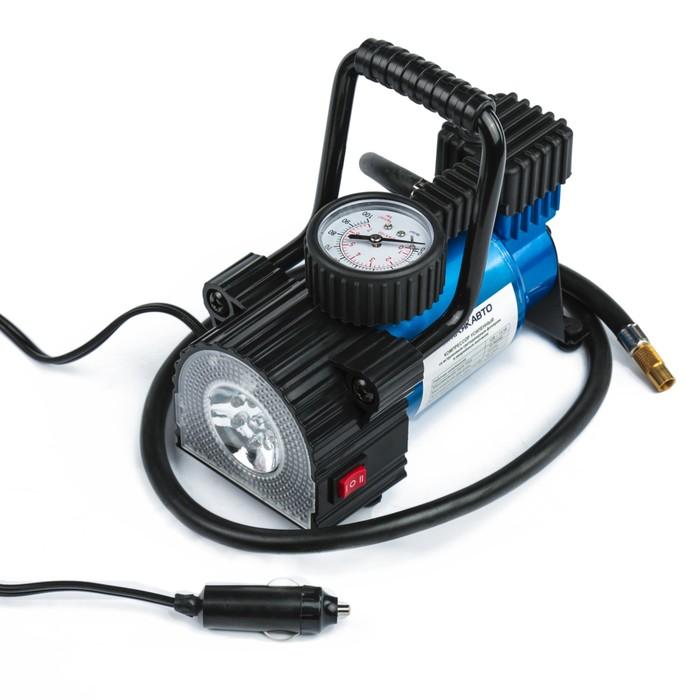 Компрессор МАЯКАВТО АС-587ма с LED фонарем, 14А, 35 л/мин, 12 В, 10 Атм/150 PSI