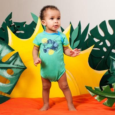 Боди для мальчика, рост 62 см, цвет зелёный 132-002-11_М