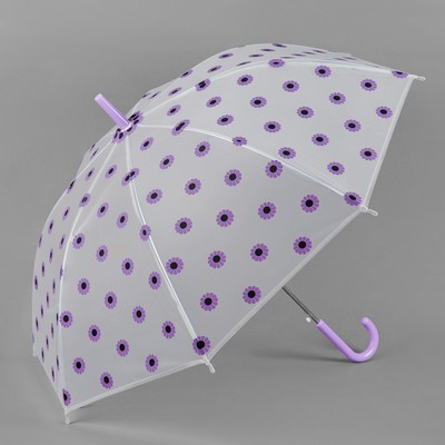 "Umbrella semi-automatic ""Daisies"", 8 spokes, R = 45 cm, color purple"