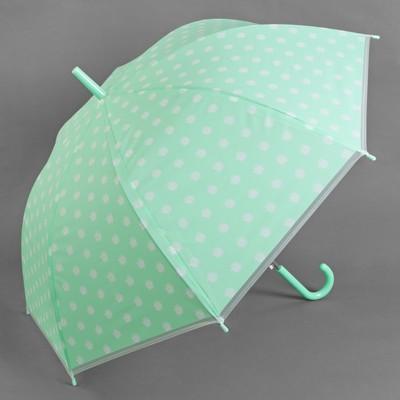 Зонт полуавтоматический «Ромашки», R = 45 см, цвет мятный