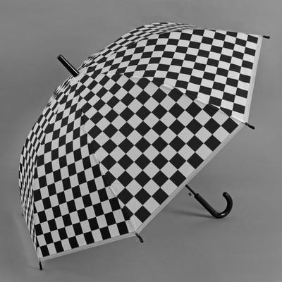 Зонт полуавтоматический «Квадраты», R = 46 см, цвет чёрный/белый