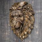 """Подвесной декор """"Голова льва"""" бронза, 55см"""