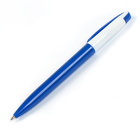 Ручка шариковая поворотная 0,5мм Лого корпус белый/синий стержень синий